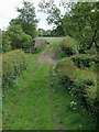 SJ9453 : Farm track west of Denford, Staffordshire by Roger  Kidd