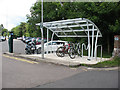 TQ5434 : Cycle rack at Eridge station by Stephen Craven