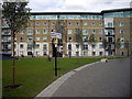 TQ4379 : Apartment block in James Clavell Square, Royal Arsenal, Woolwich by PAUL FARMER