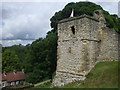 SE7984 : Corner tower, Pickering Castle by John Lord