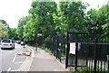 TQ2572 : Entrance to Wimbledon Park, Home Park Rd by Nigel Chadwick
