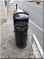 TQ3978 : Dual litter bin by Stephen Craven