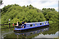 TL3806 : Narrow boat, River Lee Navigation, Hoddesdon, Hertfordshire by Christine Matthews