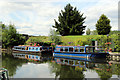 TL3706 : Narrow Boats, River Lee Navigation, Broxbourne, Hertfordshire by Christine Matthews