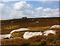 SE0758 : The summit plateau of Carncliff - a big rock by Ian Greig