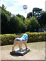 SZ0891 : Bournemouth: lion and balloon by Chris Downer