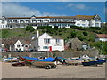 SX6740 : Beach and Hotel, Hope Cove by Colin Bews