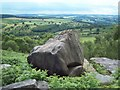 SK2872 : Lifelike Boulder on Birchen Edge by Jonathan Clitheroe