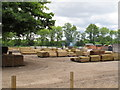 TM0936 : Dodnash wood yard by Roger Jones