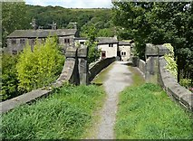 SE0026 : Hawks Clough Bridge, Mytholmroyd by Humphrey Bolton