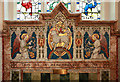 TL4845 : St Peter, Duxford - Reredos by John Salmon
