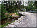 NH8145 : Nice new bridge over Allt Dearg above ford  at Dalcharn by Sarah McGuire