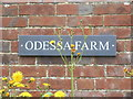 TG0726 : Odessa Farm sign by Adrian Cable