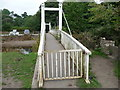 SS8877 : Footbridge over the Ogmore River / Afon Ogwr near Merthyr Mawr village by Jeremy Bolwell