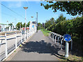 TQ3763 : Cycle rack at Addington Village tramstop by Stephen Craven