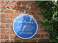 TQ4666 : Blue Plaque on Priory Gardens Gate by David Anstiss