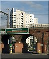 SE3033 : Railway viaduct, Leeds by Derek Harper