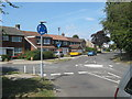 TQ4465 : Roundabout on Crofton Avenue by David Anstiss