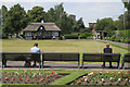 SJ9222 : Around the bowling green, Victoria Park  by Robin Stott