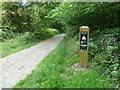 SK1872 : &quot;Narrow Route&quot; sign on byway by Graham Hogg