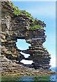 NG5312 : Perforated headland below Glasnakille : Week 32