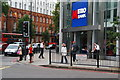 TQ2578 : Jazz band outside the Metro Bank by Bill Boaden
