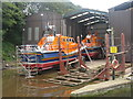 NT9464 : Lifeboats at Eyemouth by M J Richardson