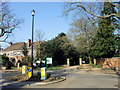 TQ3094 : Mini Roundabout and Entrance to Grovelands Park, Broad Walk, London N21 by Christine Matthews