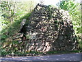 SK2462 : Old abutment in Lees Road, Birchover by Brian Westlake