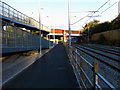 SJ8293 : Cycle path and ramp west of St Werburgh's Road Metrolink station, Chorlton by Phil Champion