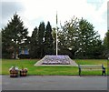 SJ9295 : Victoria Park Flagpole by Gerald England