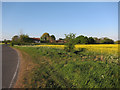 TL2945 : Flecks Lane Farm by Hugh Venables