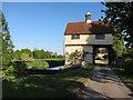 TL3043 : Down Hall Farm gatehouse by Hugh Venables