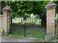 TQ2611 : Cemetery gates at Poynings by Shazz