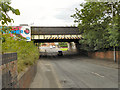 SJ8695 : Kirkmanshulme Lane Railway Bridge by David Dixon