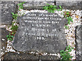 SJ9022 : Stafford - memorial stone in Castle Church graveyard by Dave Bevis