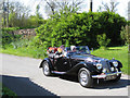 The C96 road through Ladykirk and Horndean village to the B6461 Kelso-Swinton-Berwick road is a favourite for car enthusiasts. This, taken 30th April 2011, shows a beautifully maintained MG, one of more than 50 MG cars that day ambling through the sunshine, north to the B6461.