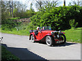 The C96 road from Norham Bridge through Ladykirk and Horndean to the B6461 Kelso-Berwick upon Tweed road is a favourite for car enthusiasts travelling through the Scottish Borders. This beautiful MG travelled the road on a sunny day, 30th April 2011.
