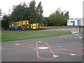 SP2495 : Play area, Hurley Primary School  by Robin Stott