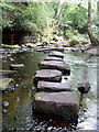 SK2987 : Stepping stones over the River Rivelin by Graham Hogg