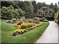 TQ8010 : Flowerbed in Alexandra Park by Paul Gillett