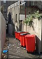 SX9163 : Bins in a Torquay alley by Derek Harper