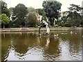 TQ8110 : Arch in Lake - Alexandra Park by Paul Gillett