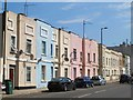 TQ2486 : Terraced houses on Cricklewood Lane, NW2 by Mike Quinn
