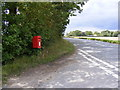 TM2573 : B1117 Laxfield Road & Barley Green Postbox by Adrian Cable