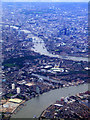 TQ3679 : Greenland Dock from the air by Thomas Nugent