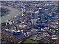 TQ3778 : Canary Wharf from the air by Thomas Nugent