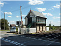 SK7889 : Beckingham signal box by Richard Croft