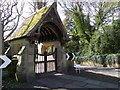 NZ2288 : Lych gate, St John's Church by Miss Steel