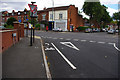 SP0583 : Cycle lane on Oakfield Road, Selly Park by Phil Champion
